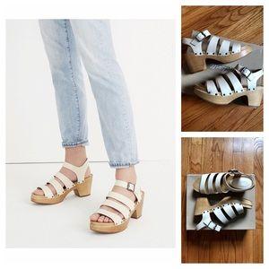 NIB! MADEWELL Sigrid Clog Sandals Leather
